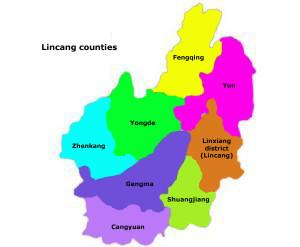 Map of Lincang