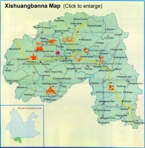 Karte von Xishuangbanna