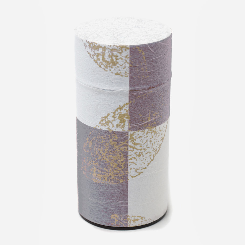 Tea canister with washi paper