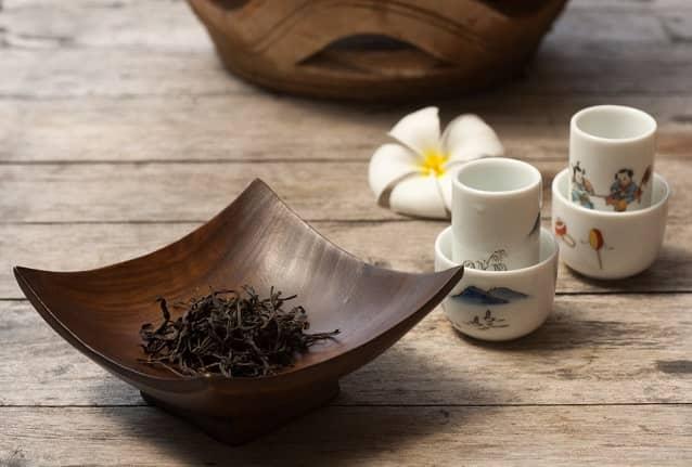 Geschäft Oolong Tee